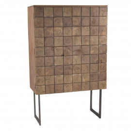 SIROCCO - 2-deurs kast - acacia hout - naturel - 90x40xh140 cm