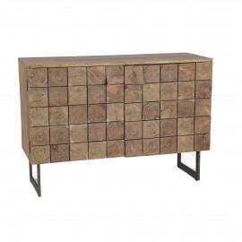 SIROCCO - 2-deurs kast - acacia hout - naturel - 110x43xh78 cm