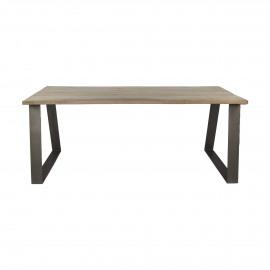 NORD - tafel - mangohout/metaal - naturel - 190x90xh78 cm