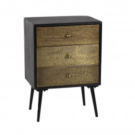 ANAÏS - chest of 3 drawers - 45x33xh60 cm - wood/metal