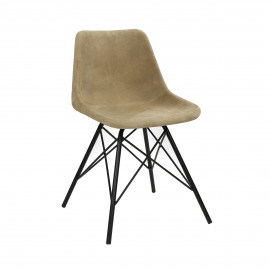DAIM - chair - suede / metal - L 49 x W 52 x H 78 cm - grey