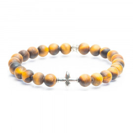 Gemini Cross mat tiger eye
