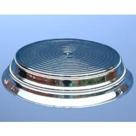 cake stand silver - plastic - round 35cm