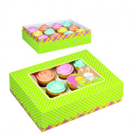 Easter Hop & tweet - Cupcake box - Wilton