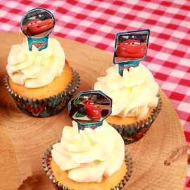 papieren cupcake toppers - Cars