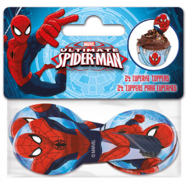 papieren cupcake toppers - Spiderman