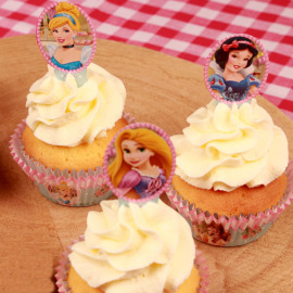 prinsessen - papieren cupcake toppers