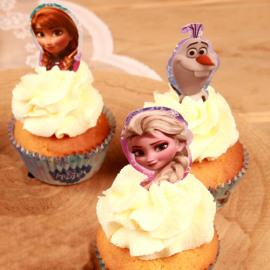 Frozen - papieren cupcake topper