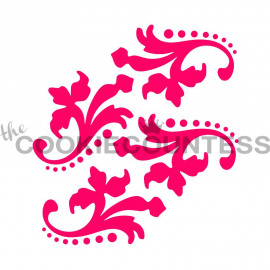 dotted damask - stencil