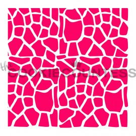 giraffe print - stencil