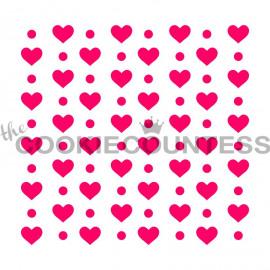 hearts en dots - stencil