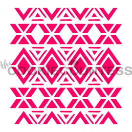tribal diamonds - stencil