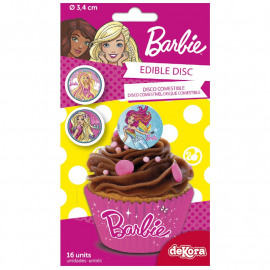 barbie - cirkel - suikerplaatjes
