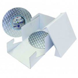 25 x 25 x 15cm - cake box & round cake board -  PME
