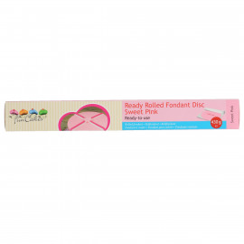 ready rolled fondant disc - Sweet pink