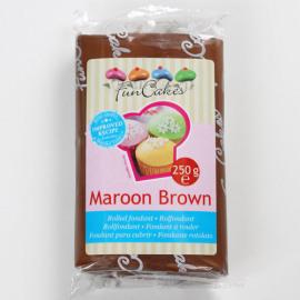 maroon brown - rolfondant bruin - Funcakes