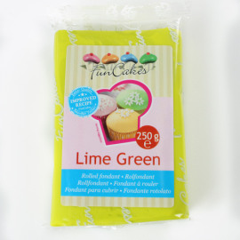lime green - rolfondant groen - FunCakes
