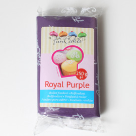 royal purple - rolfondant paars - Funcakes