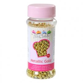metallic goud - suikerparels 4mm - FunCakes
