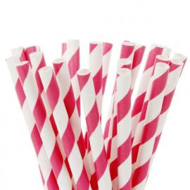 cake pop straws - hot pink - HOM