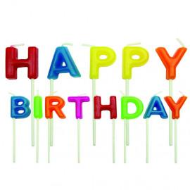 Happy Birthday - kaarsen PME