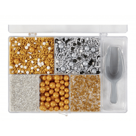 Metallic sprinkle tackle box