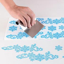 snowflakes - silicone mat - Silikomart Wonder cakes