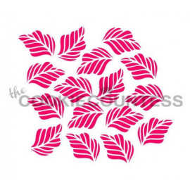 tropical leaves - stencil