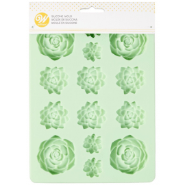 siliconen candy mold - succulents