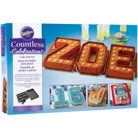 numbers & letters set - cake pan - Wilton