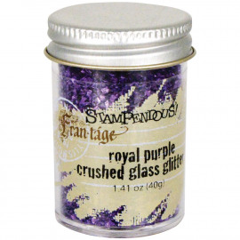 Crushed Glass Glitter 1.41oz Royal Purple