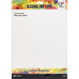 Tim Holtz Alcohol Ink White Yupo Paper 86lb 5/Pkg