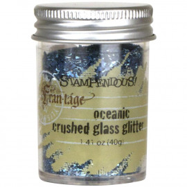 Crushed Glass Glitter 1.41oz Oceanic