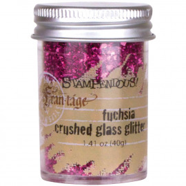 Crushed Glass Glitter 1.41oz Fuchsia