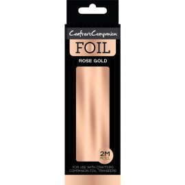 Crafter's Companion Foil 2m Roll Rose Gold