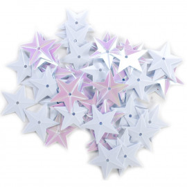 Star Sequins 18mm 50/Pkg White Iridescent