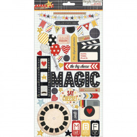 Say Cheese Chipboard Stickers 6