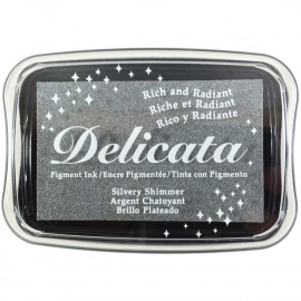 Delicata Pigment Ink Pad Silvery Shimmer