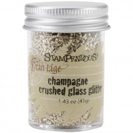 Crushed Glass Glitter 1.41oz Champagne