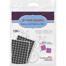 3D foam squares - 126 pcs