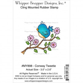 Cling Mounted rubber stamp - conway Tweetie