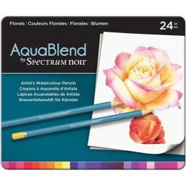 AquaBlend Pencils 24/Pkg Florals