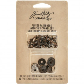 Idea-Ology Fluted Paper Fasteners W/Washers .5