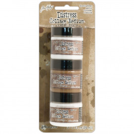 Distress Collage Mini Mediums 1oz 3/Pkg Vintage, Matte & Crazing