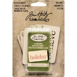 Double-Sided Flashcards 72/Pkg Holiday Red & Green/36 Each 1.5
