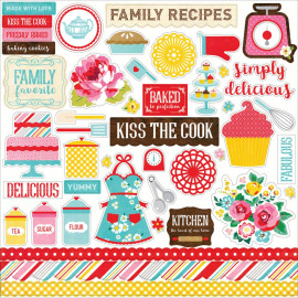 Happiness Is Homemade Cardstock Stickers 12