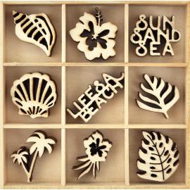 Wooden Flourish pack - Life's a Beach