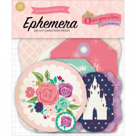 Once upon a time princess ephemera Die cut pieces