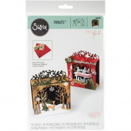 Sizzix Thinlits Die Set 19PK - Holiday Shadowbox