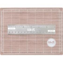 Mini Magnetic Cutting Mat & Ruler Set